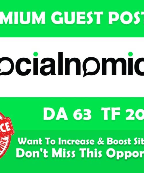 Write and Publish Guest Blog Post on Socialnomics net [ DA68 ]